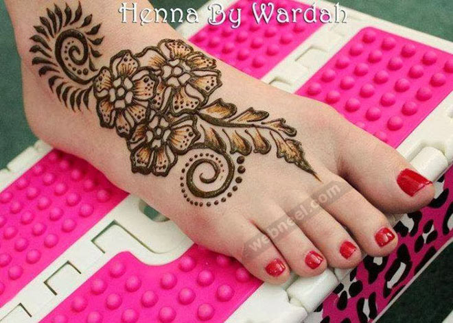 Mehndi Legs Images : Mehndi designs legs by wardah 17
