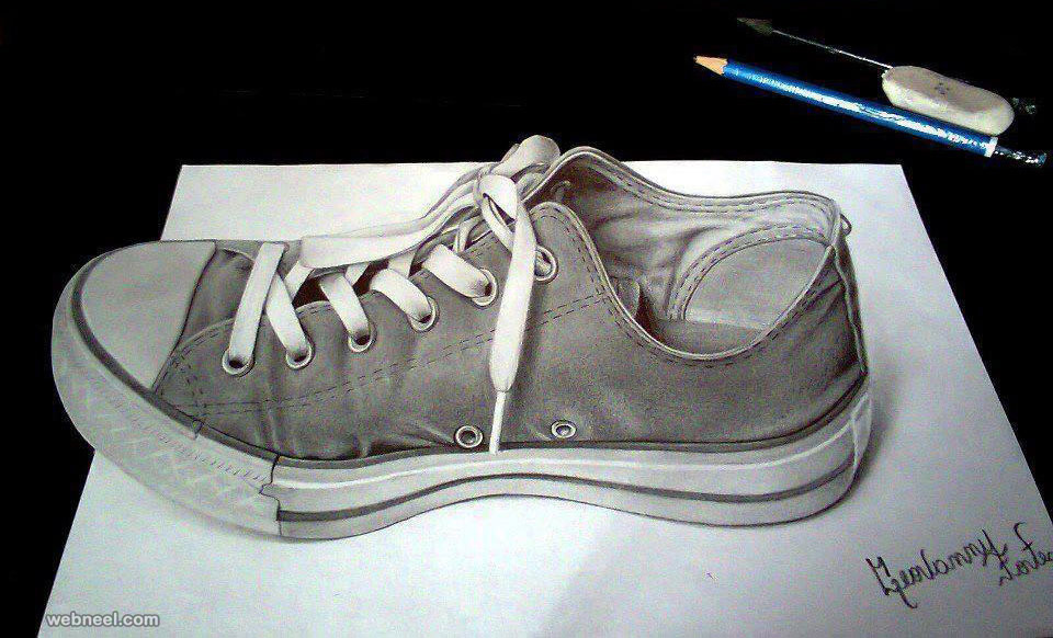 shoe 3d drawing
