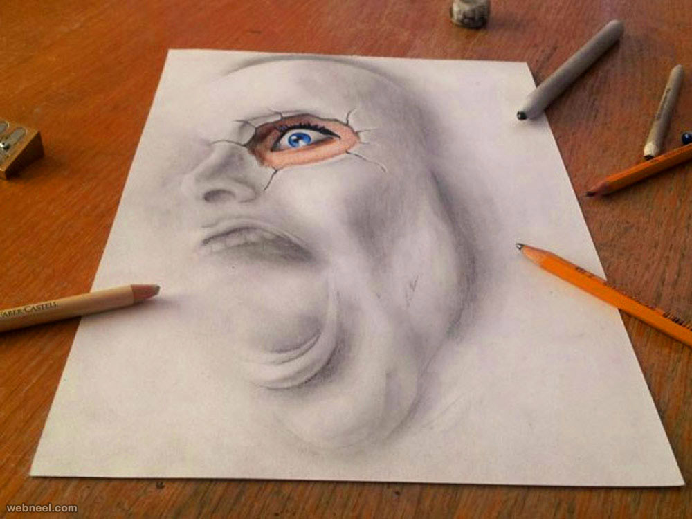 face 3d drawing