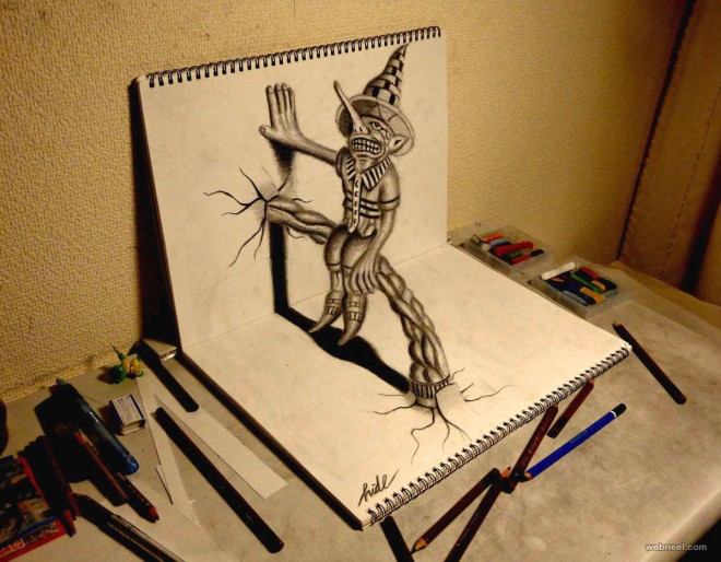 Amazing Art Design : Beautiful d pencil drawings and art works part