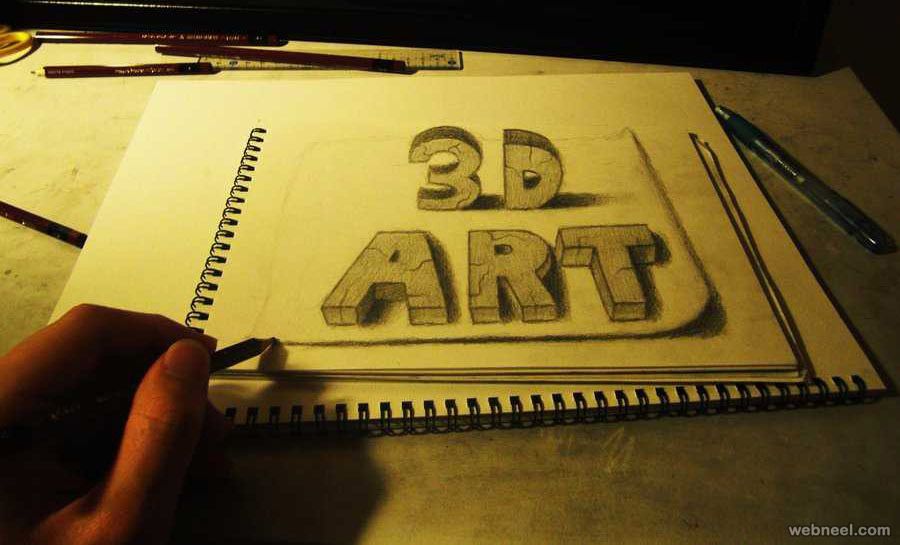 3d text drawing