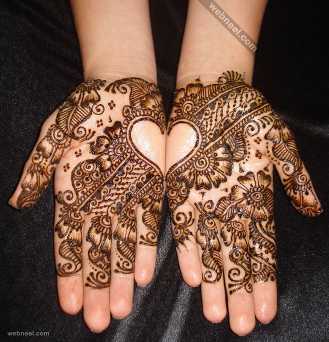 Mehndi Heart Shape : Beautiful and easy henna mehndi designs for every