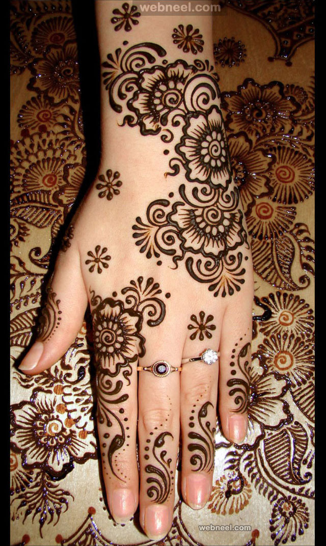 mehndi designs hand back side