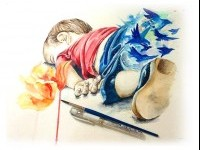 Aylan Kurdi Syria drawing by janekreates