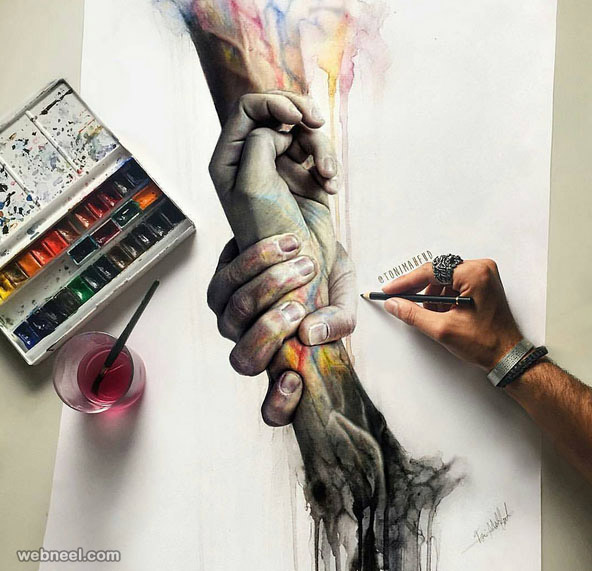 Creative painting works by tonimahfud