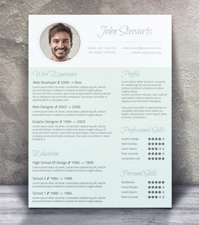 26 brilliant and colorful resume designs that will make you rethink your cv