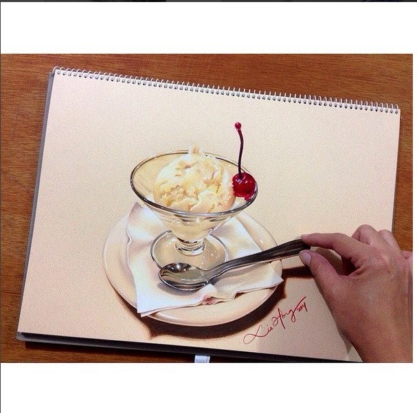 Hyper realistic drawing by liehong