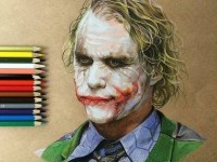 realistic color pencil drawing by Godot