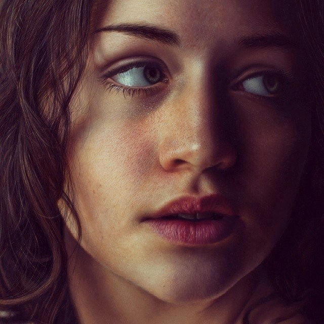 realistic woman drawing by marco grassi