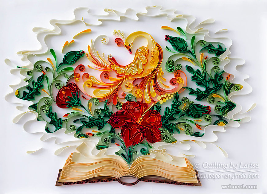 25 beautiful quilling flower designs and paper quilling cards quilling art peacock design by larisa quilling art peacock design mightylinksfo