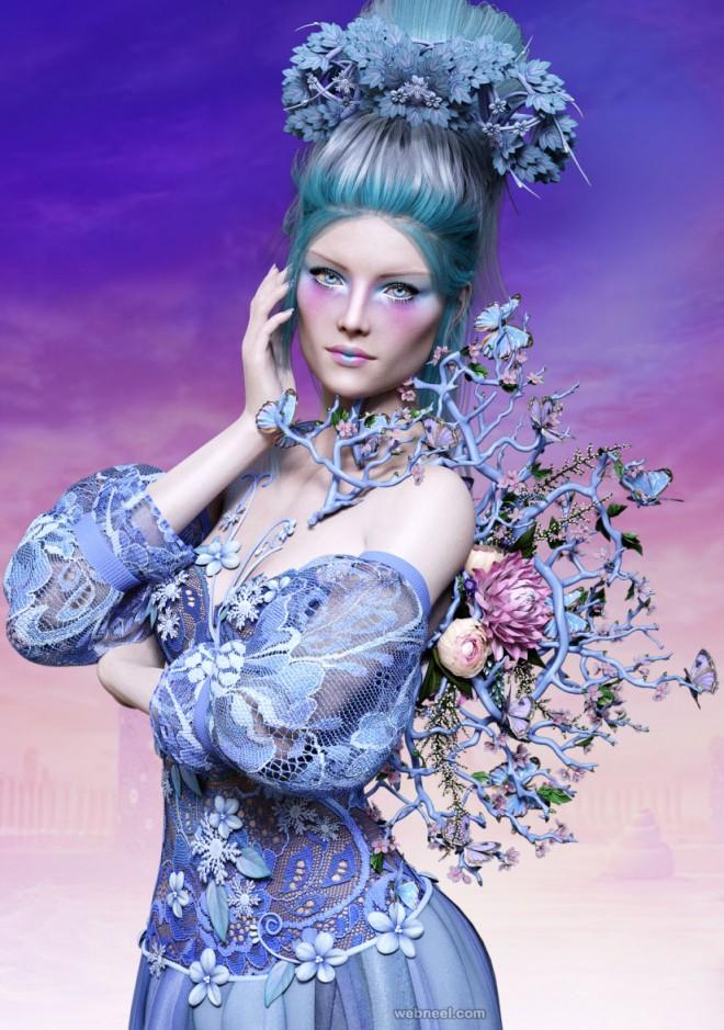 queen daz3d models by crender