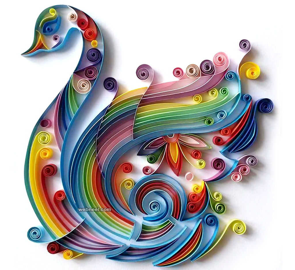 Swan Quilling Art Design 13 Full Image