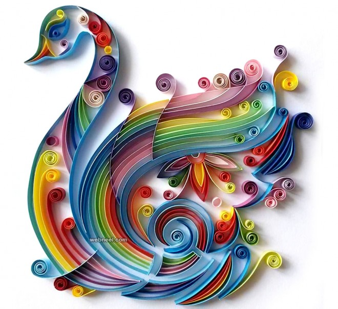 25 beautiful quilling flower designs and paper quilling cards Wall art paper designs