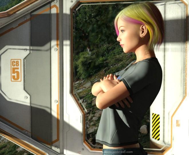 girl daz3d models by fatel666