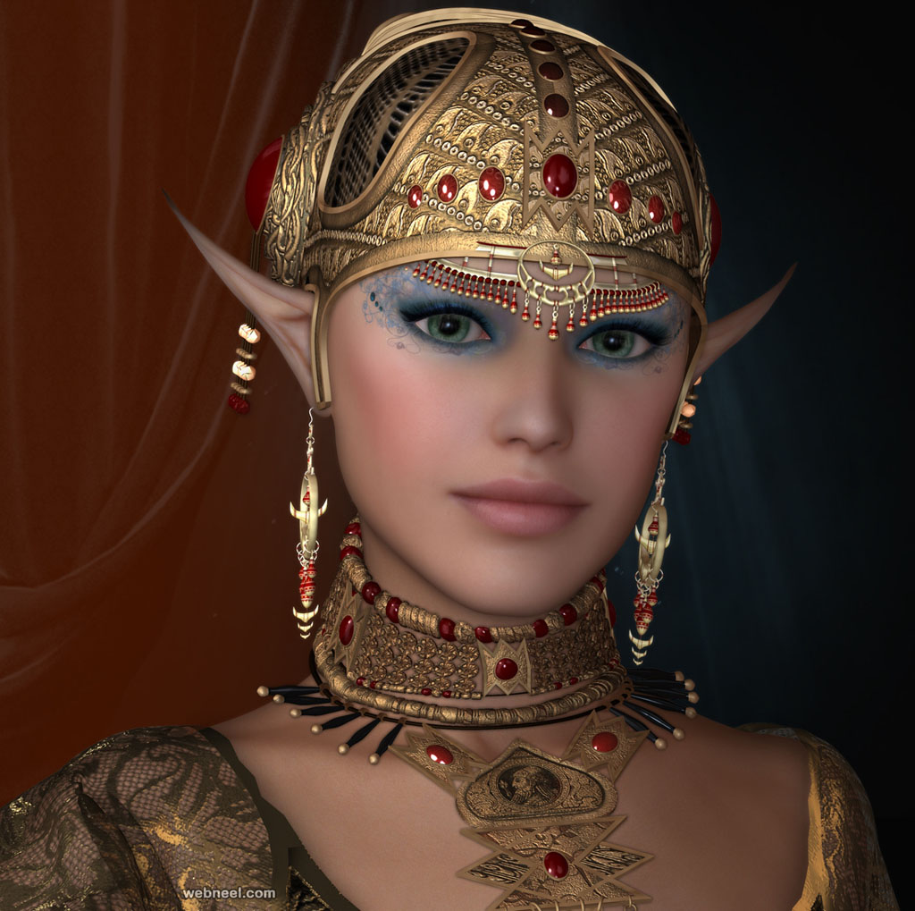 queen daz 3d models