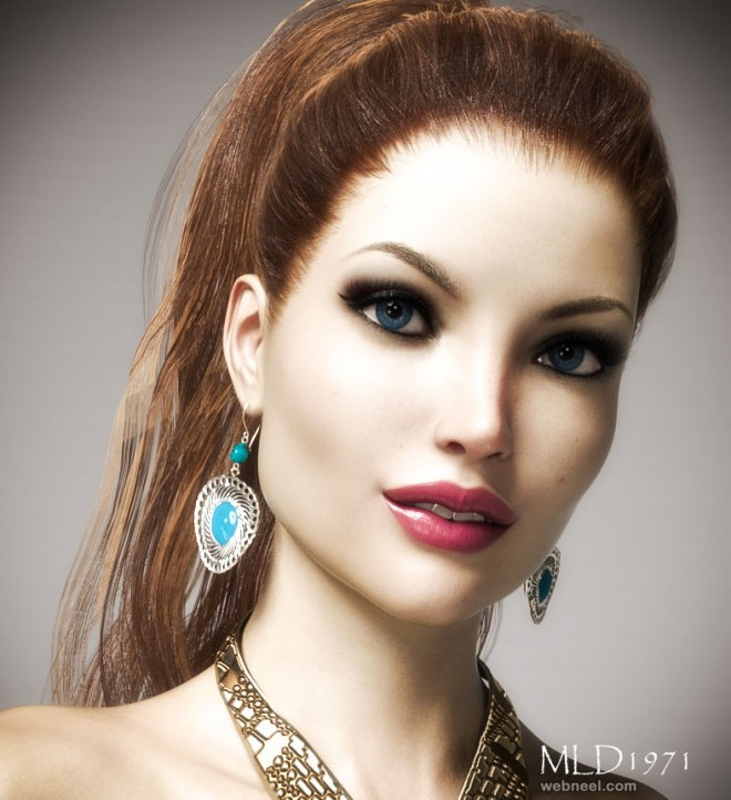 girl daz 3d models