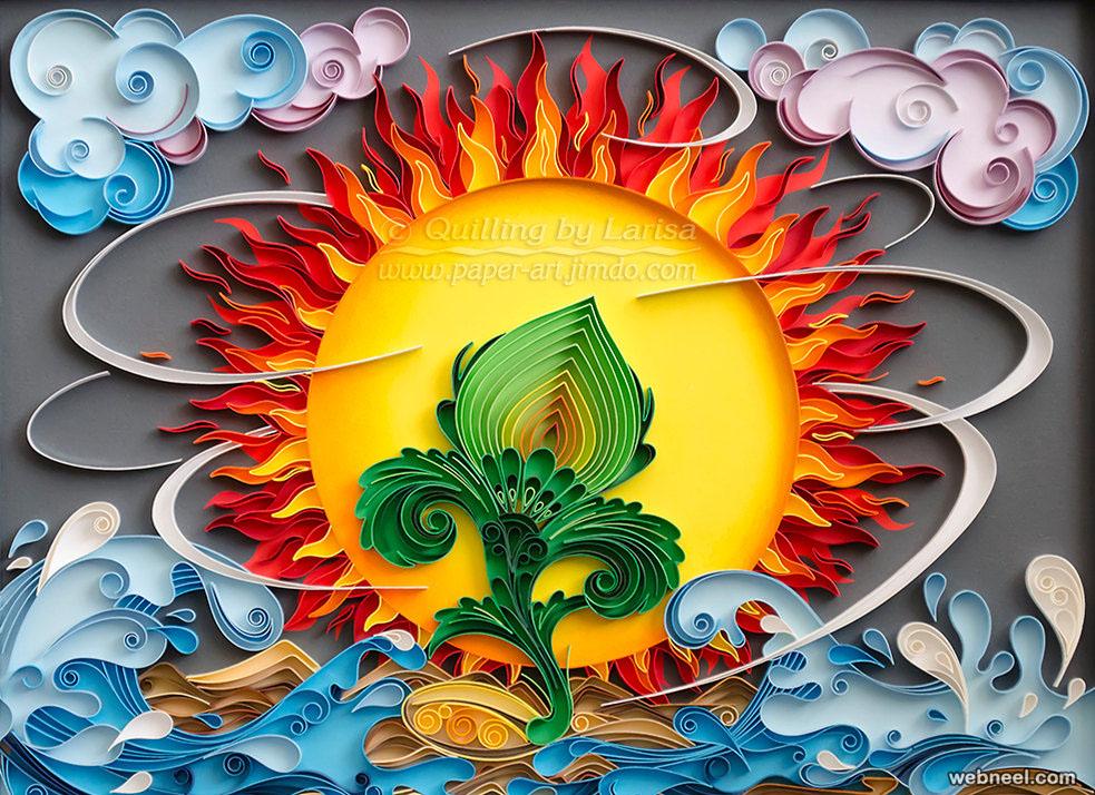sun sea quilling art