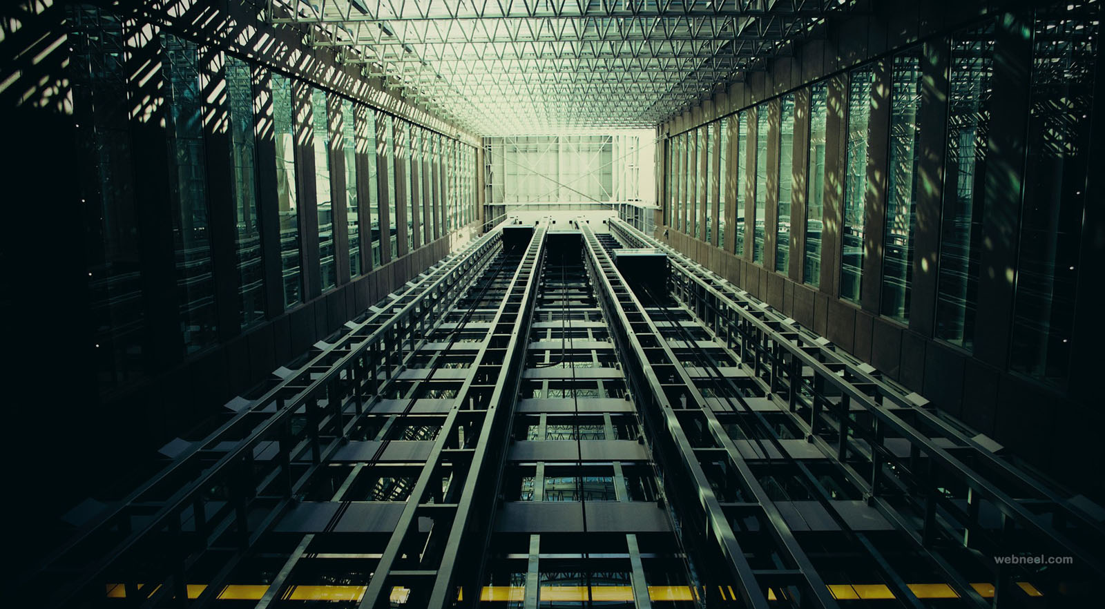 abstract photography elevators