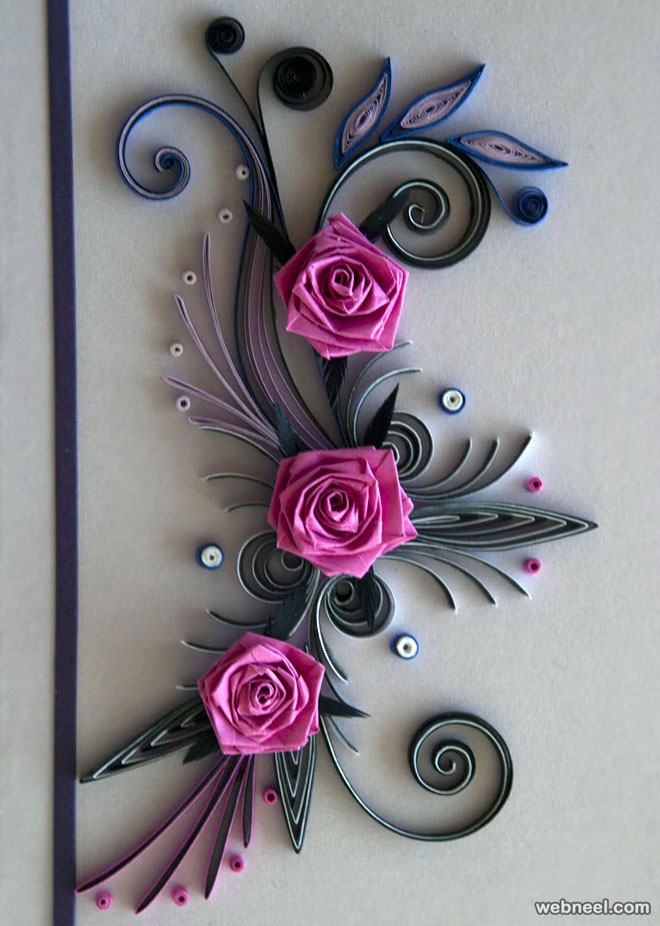25 beautiful quilling flower designs and paper quilling cards quilling roses by neli quilling roses mightylinksfo
