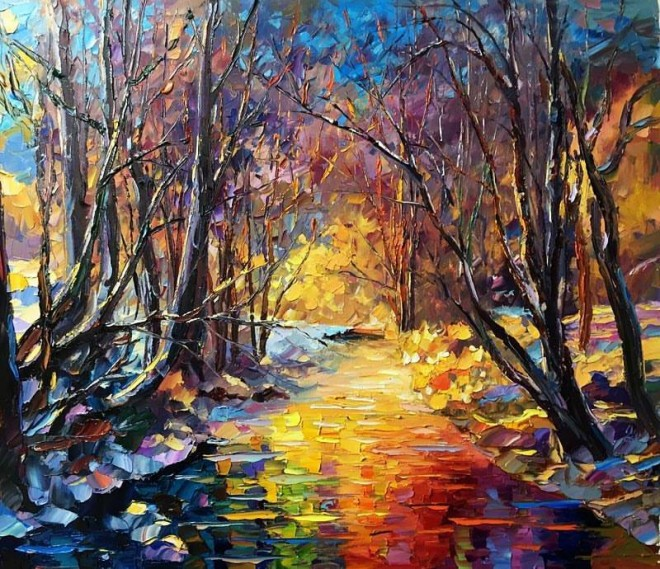 autumn knife painting by daniel wall