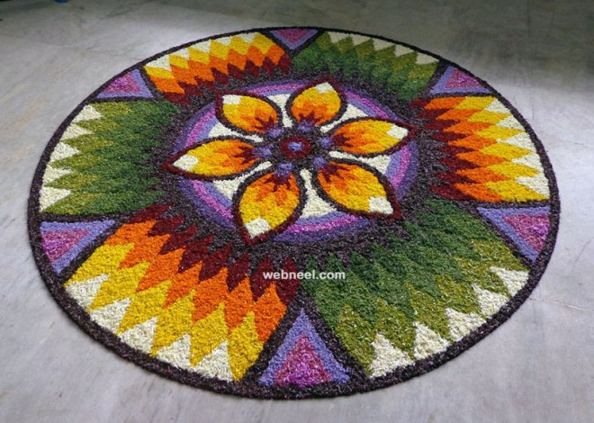 beautiful onam pookalam design