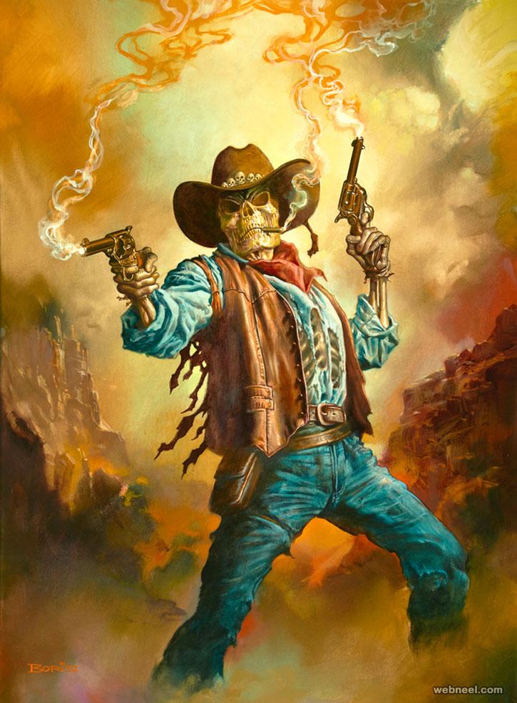 boris vallejo painting gunslinger