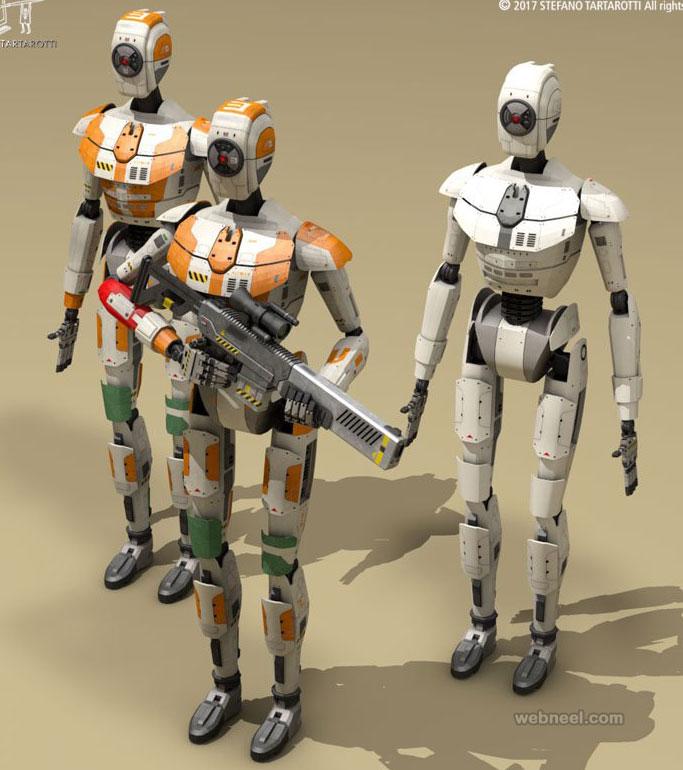 3d model scific robot by stefanotartarotti