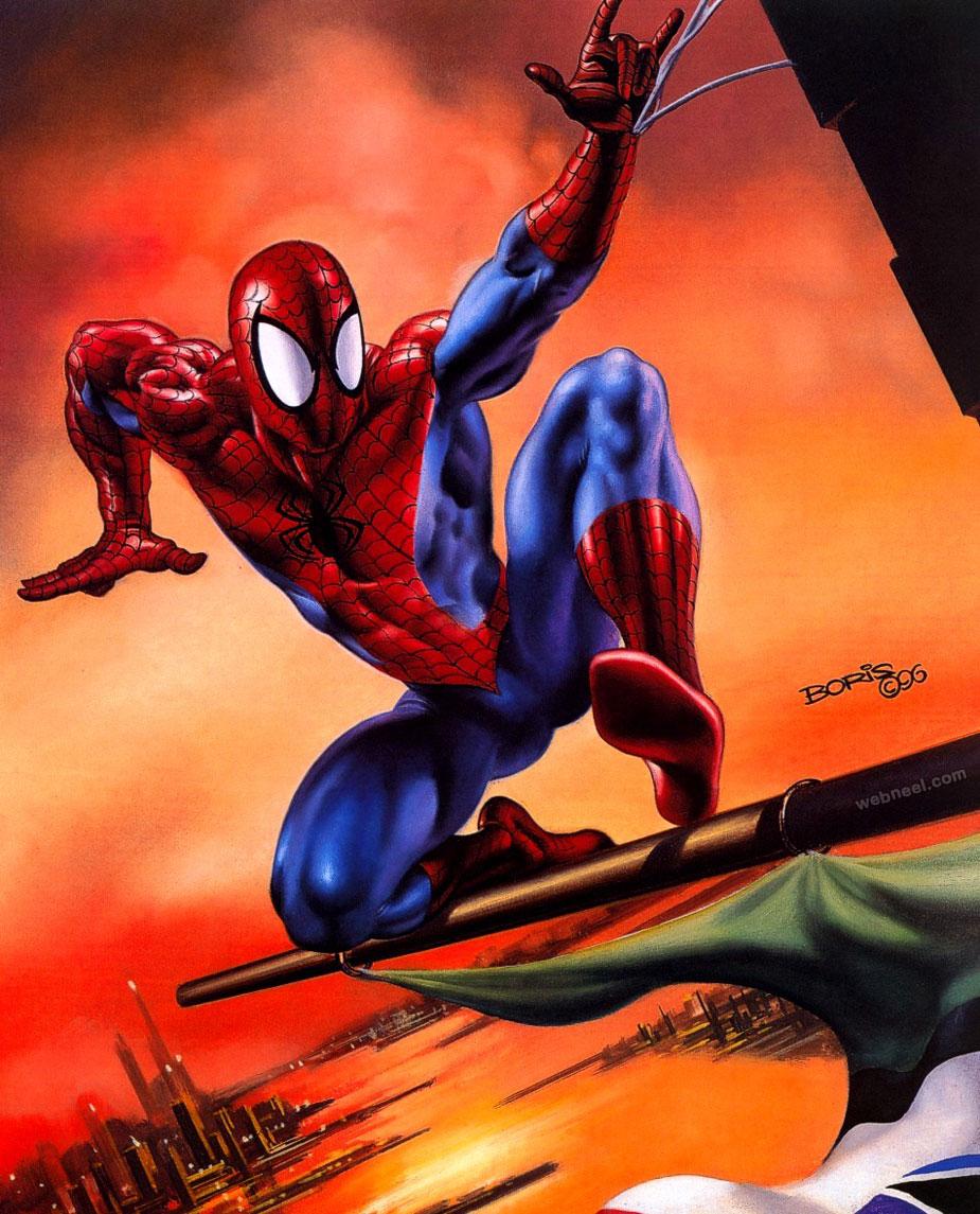 boris painting spiderman