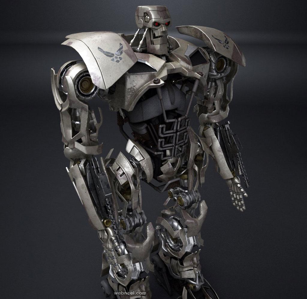 3d model robot warrior