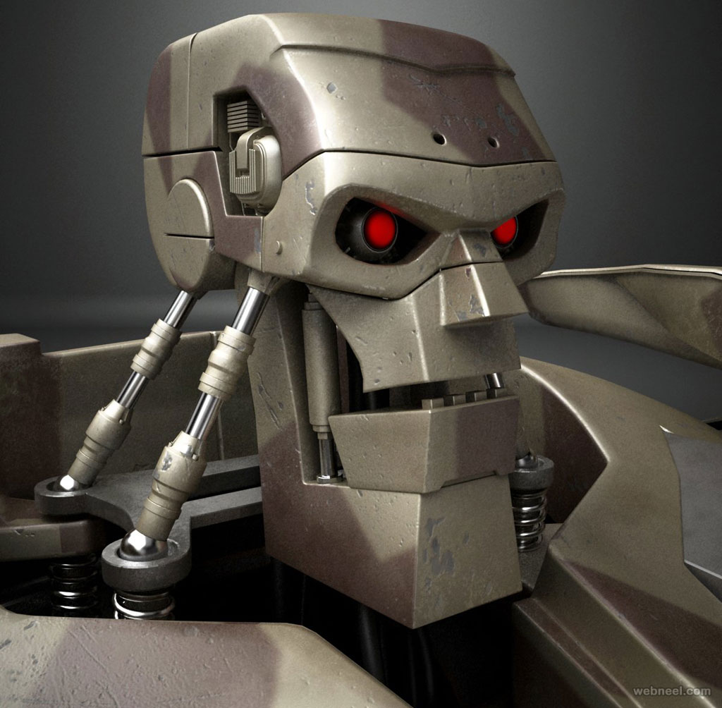 3d model robot warrior by testadesign