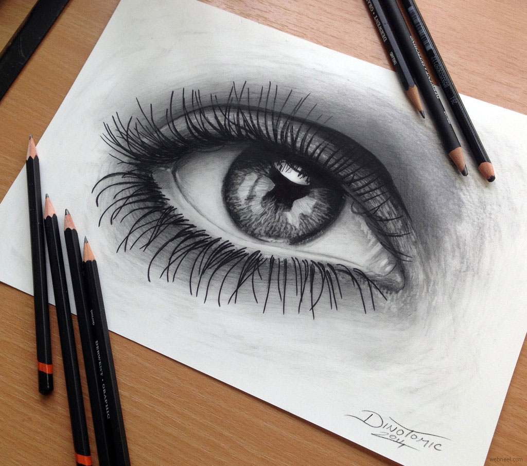 eye pencil drawing by atomiccircus