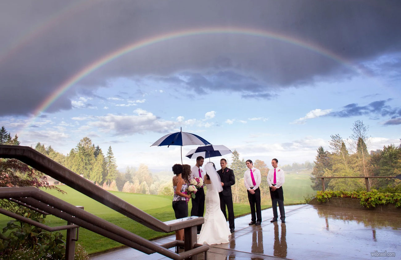 rain photography wedding by chris becerra