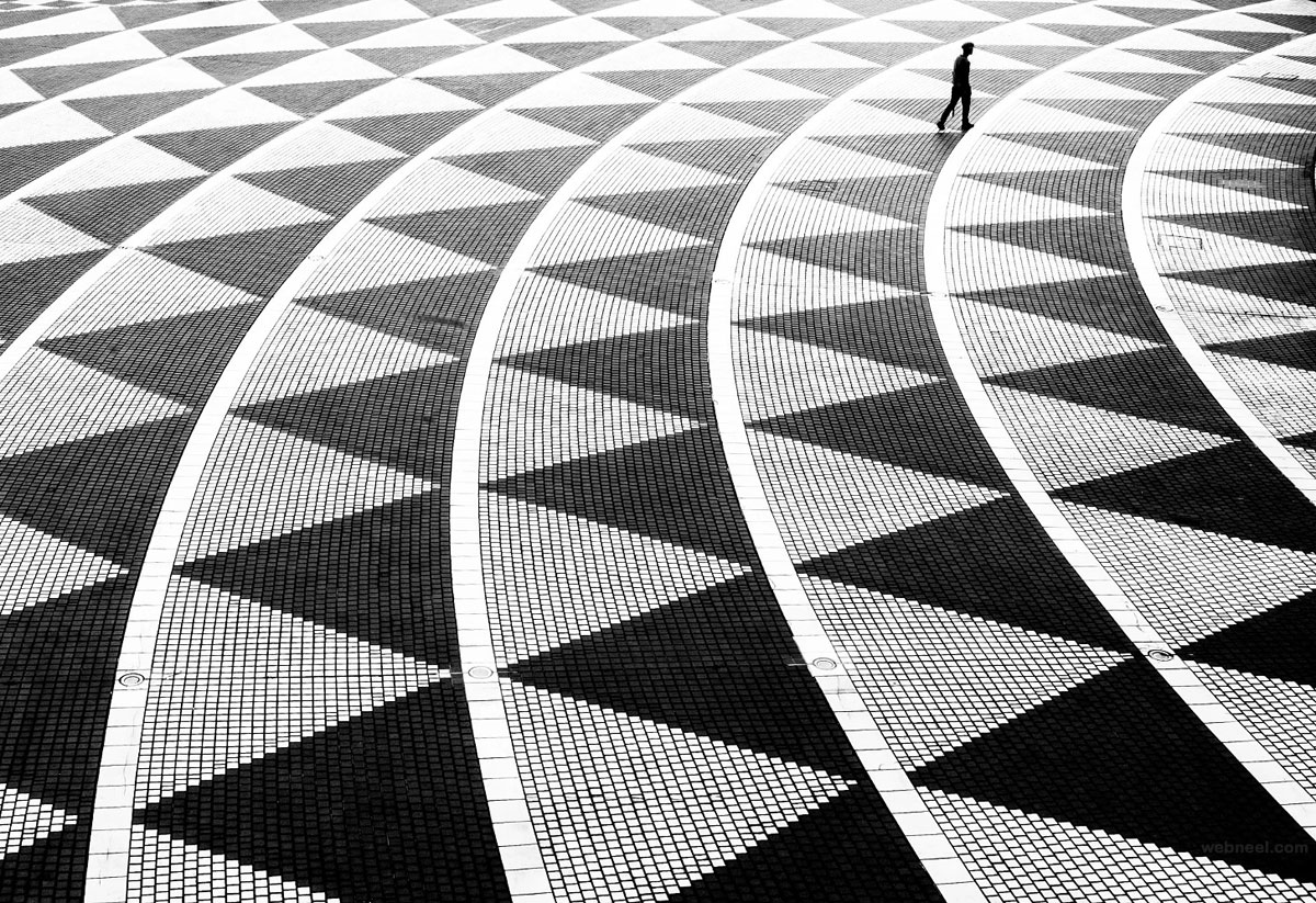 black and white photography triangles