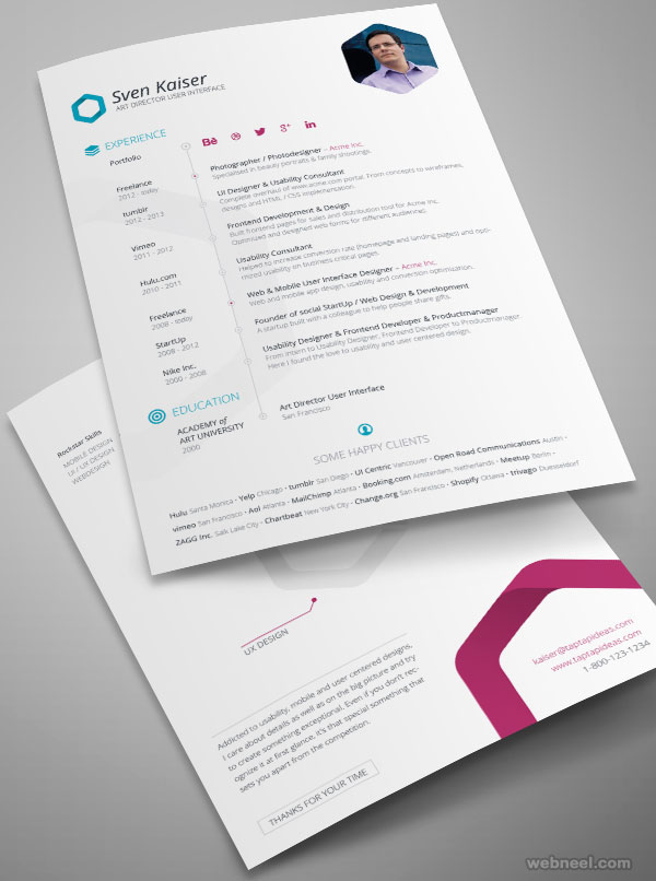 sample resume design by svenkaiser