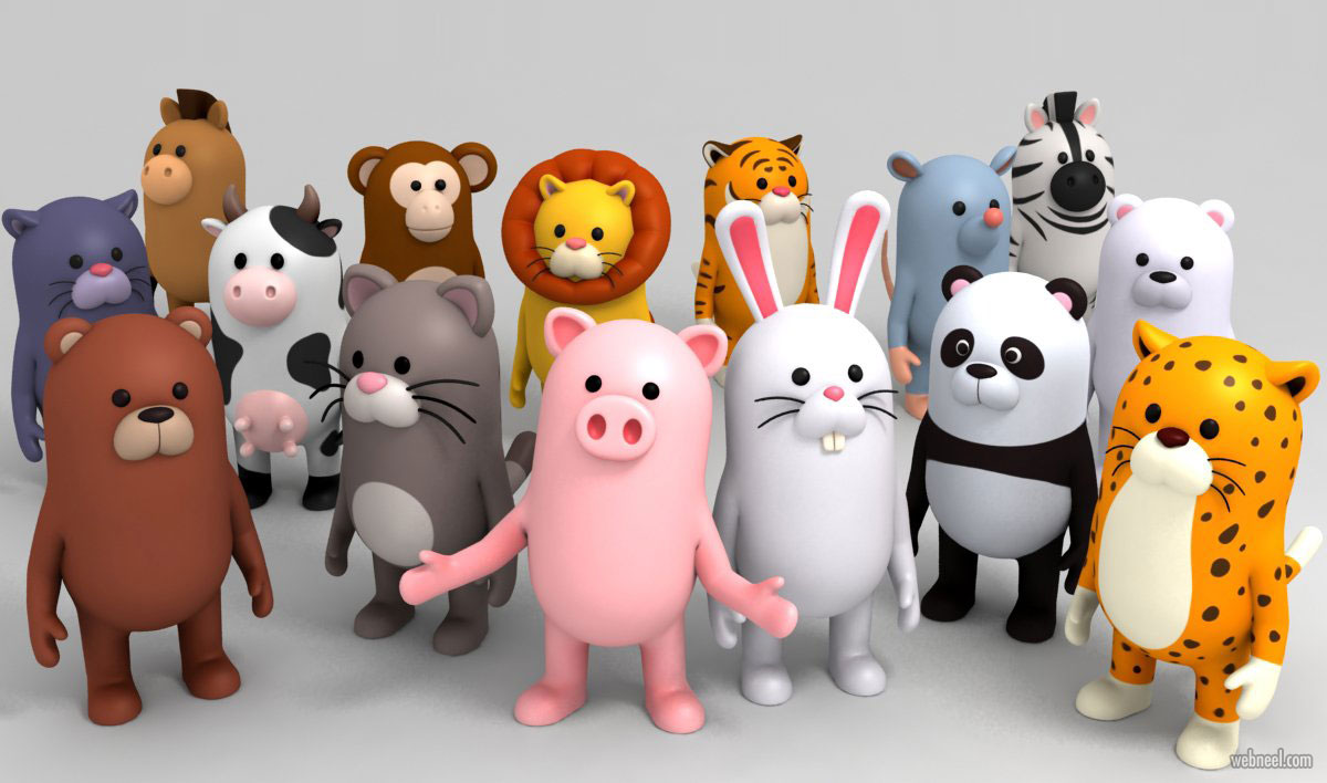 3d model animal cartoon
