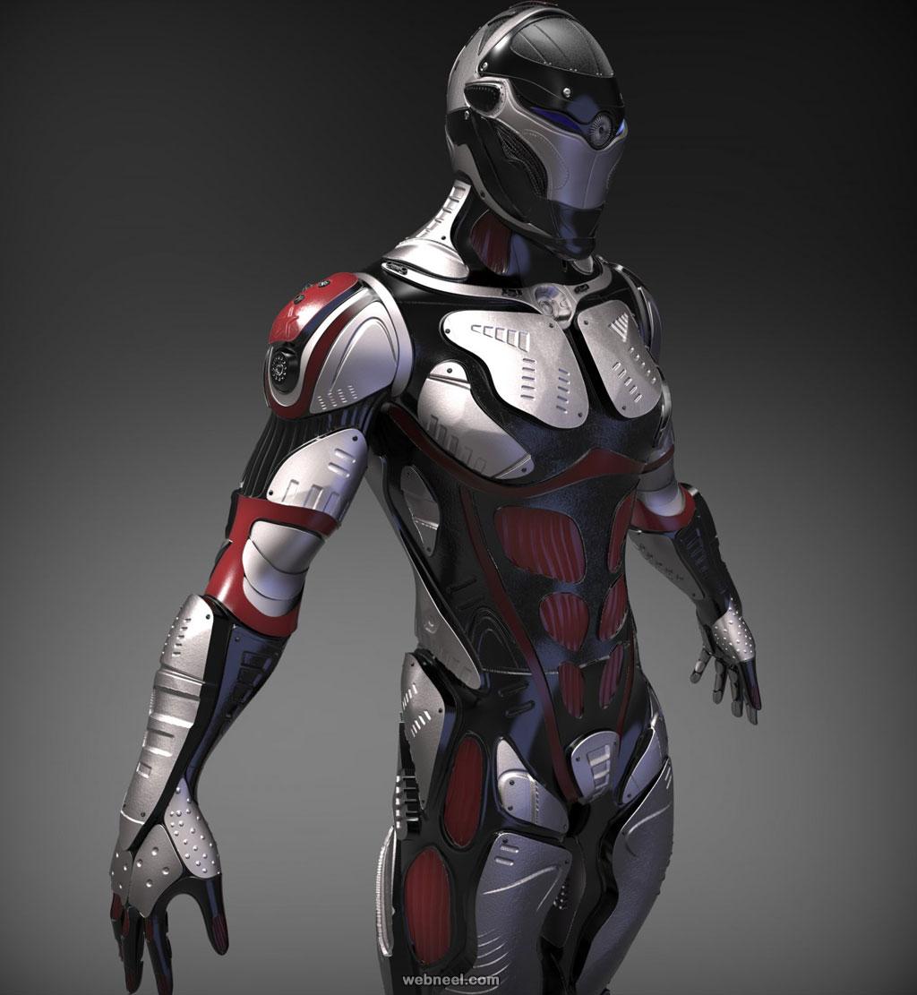 3d model robot scifi character