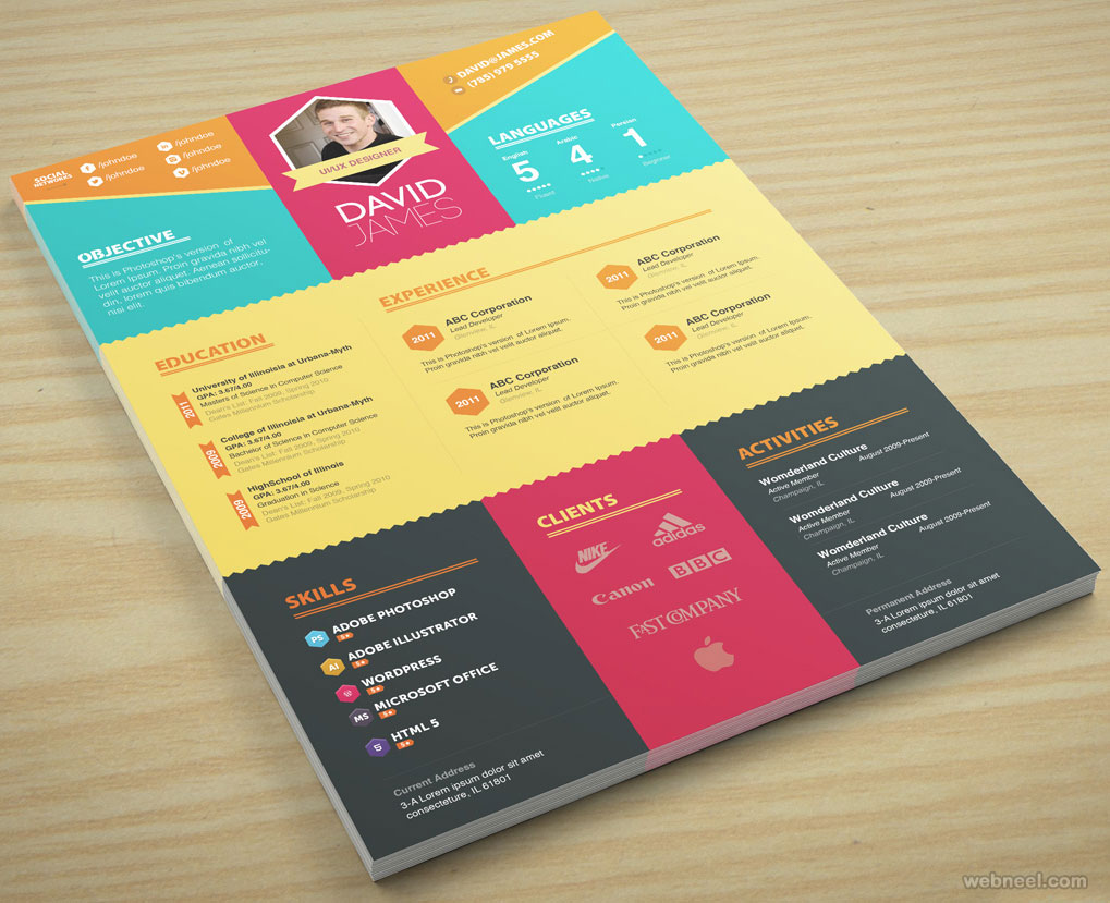 resume design by zippypixels