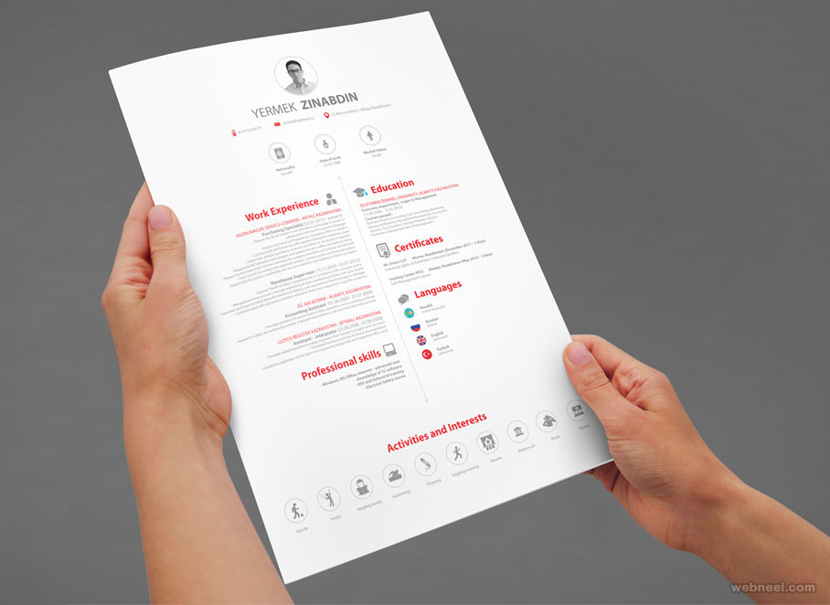 resume design by haroonrasheed