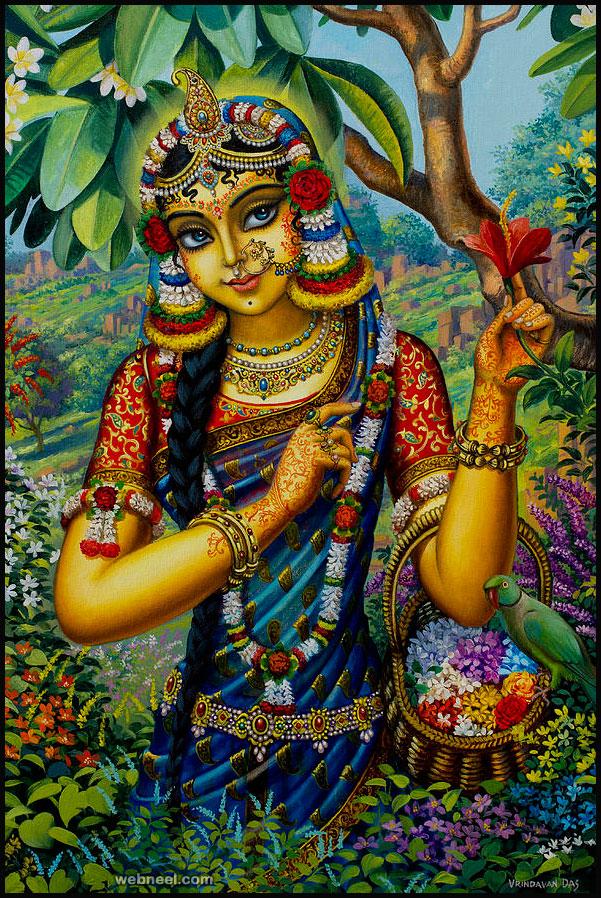 radha painting by vrindavan das