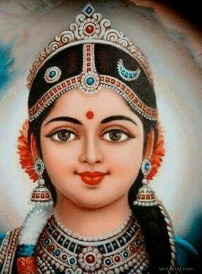 godess tanjore painting