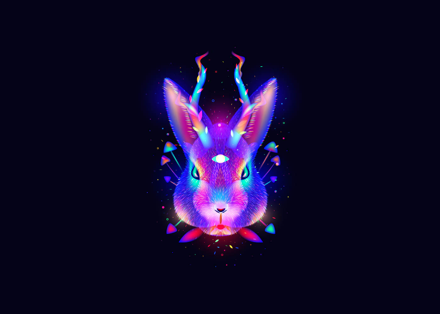 digital art rabbit by ilya shapko