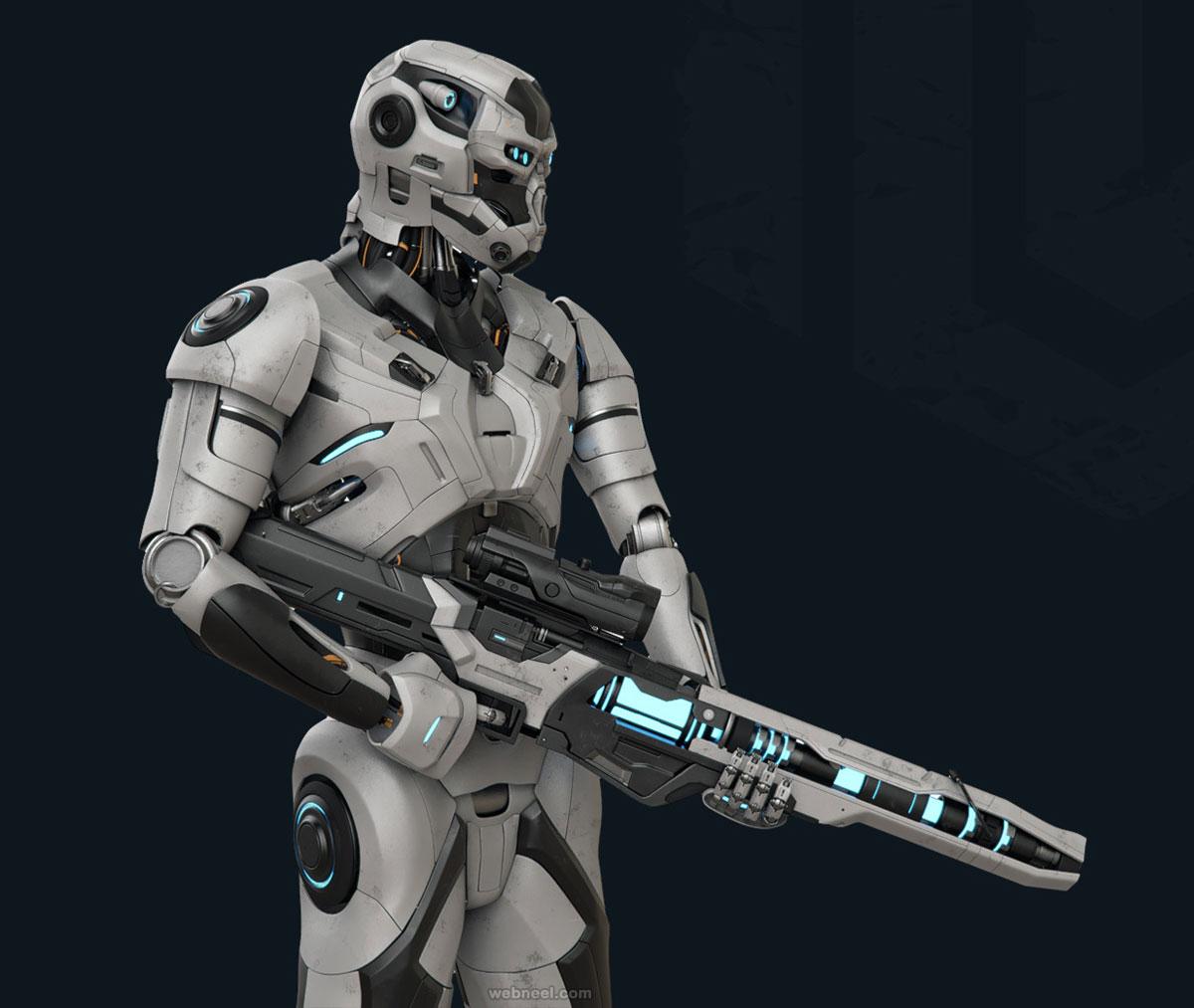 3d model humanoid robot