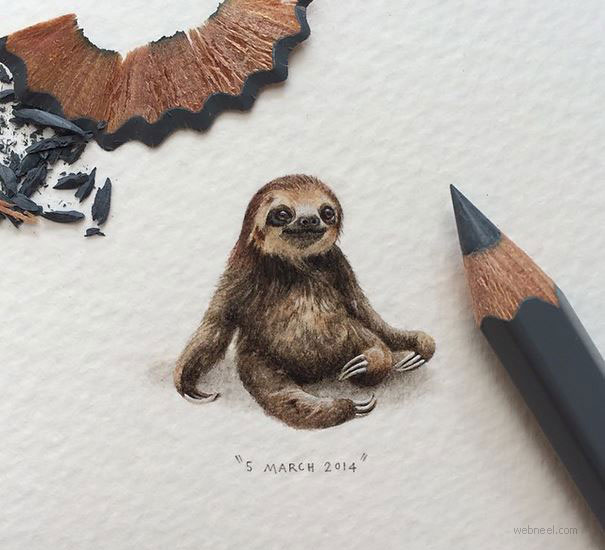 miniature painting artwork animal by lorraine loots