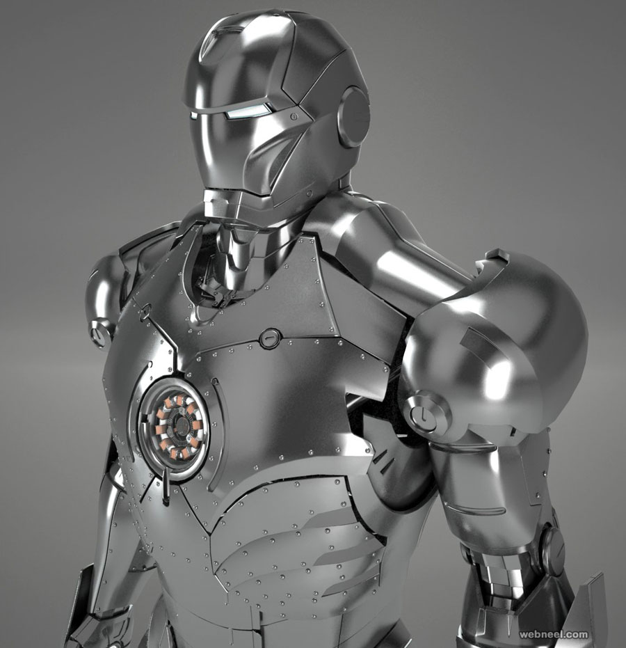 3d model robot ironman by testadesign