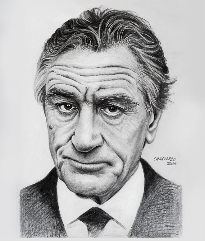 pencil drawing deniro by canavarro