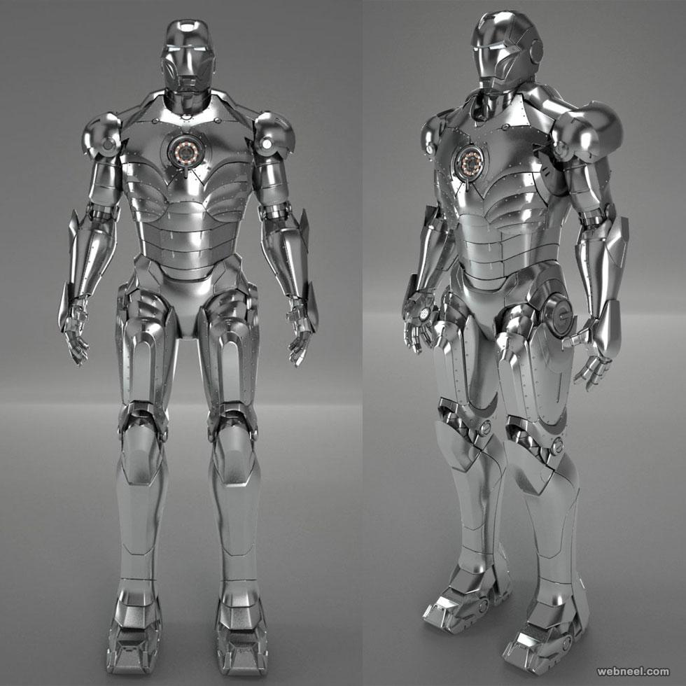 3d model robot ironman by testadesign