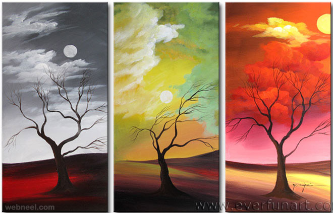 Beautiful Paint 35 stunning and beautiful tree paintings for your inspiration