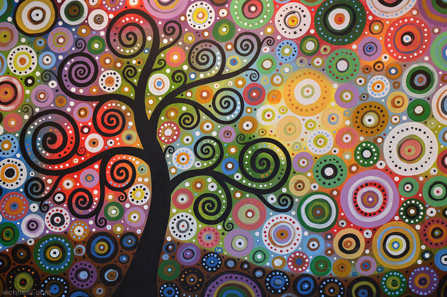 paintings of tree