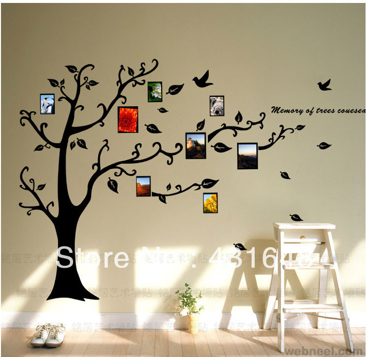 wall art decals ideas ... & 30 Beautiful Wall Art Ideas and DIY Wall Paintings for your inspiration