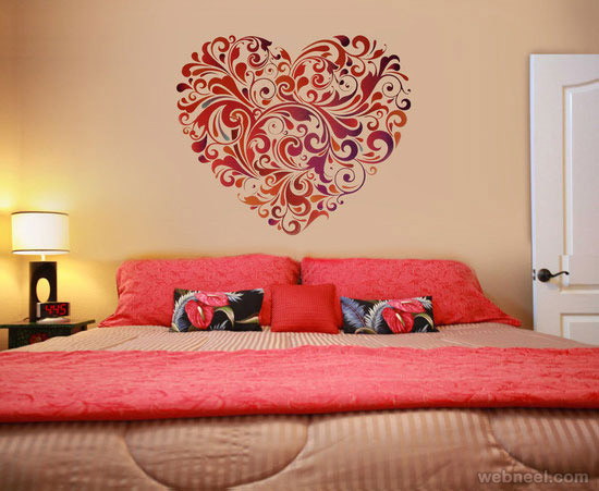 30 beautiful wall art ideas and diy wall paintings for for Mural art designs for bedroom